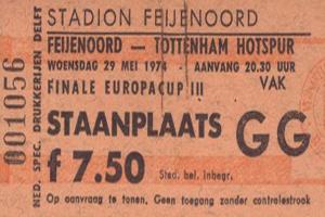 Feyenoord – Tottenham Hotspur 29 mei 1974.