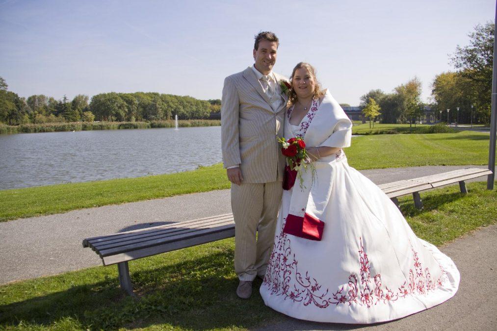 trouwfoto van Bianca en Richard