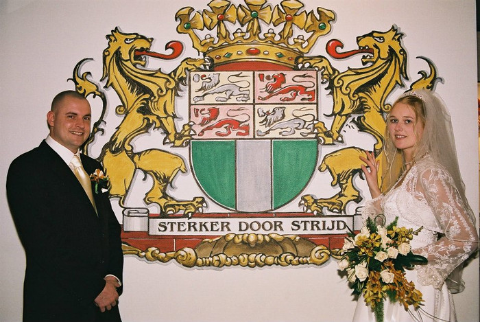 trouwfoto van Sandra en Mario