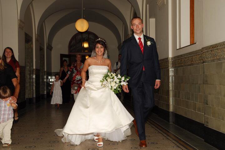 De trouwfoto van Sep en Max
